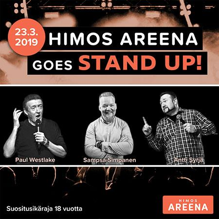 Himos Areena goes stand up